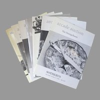"Vintage Sotheby's Auction Catalogues ""Arcade Auction"", ""Marketplace"" & ""Decorations, Continental Furniture, Rugs, Carpets & Silver"" Group of 7"