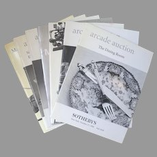 """Vintage Sotheby's Auction Catalogues """"Arcade Auction"""", """"Marketplace"""" & """"Decorations, Continental Furniture, Rugs, Carpets & Silver"""" Group of 7"""