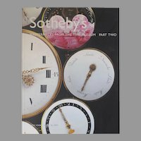 "Vintage Sotheby's Auction Catalogue ""Masterpieces from the Time Museum Part Two"""