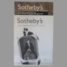"Vintage Sotheby's Auction Catalogues "" David Sylvester: The private Collection"" &  ""A Private Collection of Illustrated Books & Fine Bindings"" (2)"