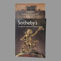 "Sotheby's Auction Catalogues ""19th Century Furniture & Decorative Arts"" ""The Winter Sale"" ""French & Continental Furniture & Decorations"" (3)"