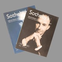 "Sotheby's Auction Catalogues ""Bibliotheque Litteraire Charles Hayoit"" Group of Two"