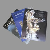 "Sotheby's Auction Catalogues ""Silver, Vertu & Russian Works of Art"" ""Orfevrerie Europeenne & Bijoux"" ""Fine English Continental & South American Silver"" Group of 3"