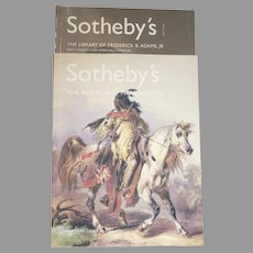 Two Vintage Sotheby's Catalogues Fine Books and Manuscripts June 26, 2001 and The Library of F. B. Adams English and American Literature