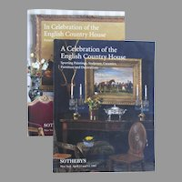 """Two Vintage Sotheby's Catologues """"A Celebration of the English Country House"""" 1996 1997"""