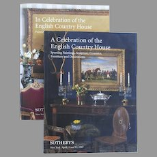 "Two Vintage Sotheby's Catologues ""A Celebration of the English Country House"" 1996 1997"