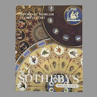 Vintage Sotheby's Auction Catalogue: Important Mobilier et Objets d'Art