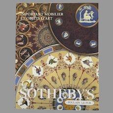 Vintage Sotheby's Auction Catalogue: Important Mobilier et Objets d'Art