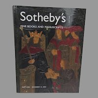Sotheby's Catalogue Fine Books & Manuscripts 2001