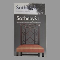 Sotheby's Auction Catalogues: English Furniture & Decorations / The Croft Castle Sale