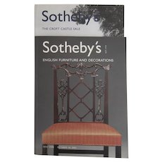 Sotheby's Auction Catalogues: English Furniture & Decorations / The Croft Castle Sale