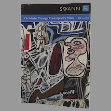Vintage Catalogue Swann Galleries: Old Master Through Contemporary Prints 2002