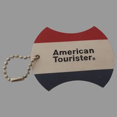 Vintage Red White Blue America Tourister Luggage Suitcase Tag