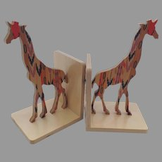 """Pair Giraffe Bookends by Special Edition Designed by Wolfum from """"Of a Kind"""""""