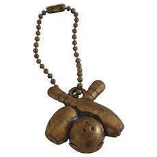 Vintage Sport Bowling Key Chain Toggle Charm