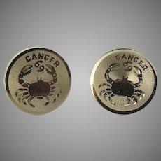 Zodiac Cancer Crab Destino Cufflinks