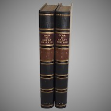 Volume I and II Journal of a Tour and Residence in Great Britain George Ramsay & Co Archibald Constable Edinburgh 1815 Leather Gold Tooled