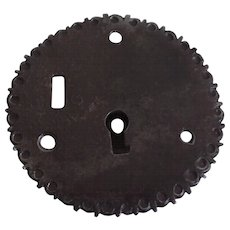 Spanish Colonial Iron Lock Escutcheon 18th Century