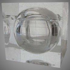 Vintage Globe Earth Lucite Ice Bucket