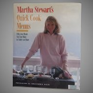 Martha Stewart's Quick Cook Menus Cookbook