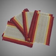 8 x Vintage Hand Made Woven Table Place Mats