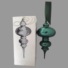 "Vintage Green Mercury Glass Ornament Finial Jumbo 16"""