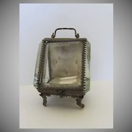 Bevel Glass Pocket Watch Stand Case Holder c 1890
