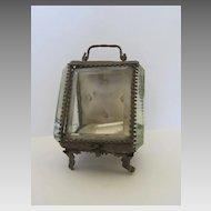 Bevel Glass Pocket Watch Stand Case Holder c 1890