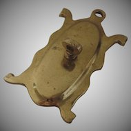 Dutch Cast Brass Backplate for Sconce Arm 18th Century