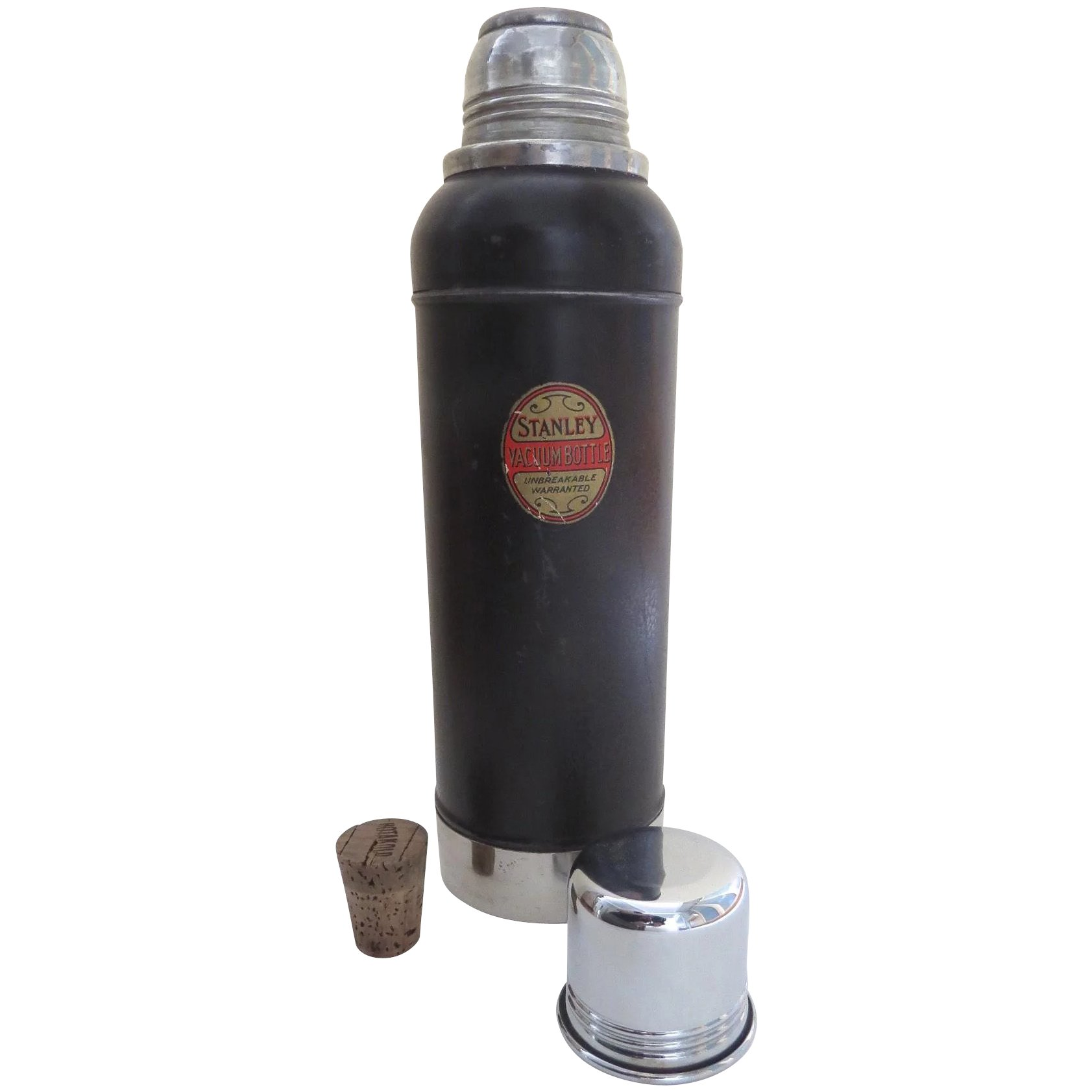 Vintage 1920's Stanley Super Vac Thermos with Cork Great Barrington