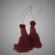 Crimson Red Old Key Furniture Tassels