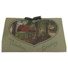 Vintage Valentine Card with Ribbon