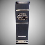Vintage 1993 Webster's Third New International Dictionary