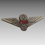 Vintage Stoffel Seals TWA Airline Wings Children Plastic