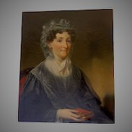 Oil on Canvas Portrait of Elizabeth Boulter Stokes (Mrs. James)