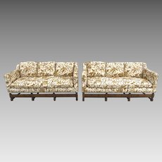 Early 20th Century Spanish Revival Carved Walnut Sofa Set