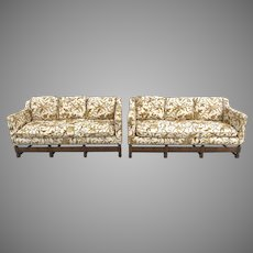 Early 20th Century Spanish Revival Carved Walnut Sofa Set