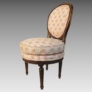 19th Century French Louis XVl Style Slipper Vanity Child's Chair