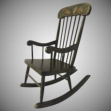 1900's American Painted Boston Child's Rocking Chair