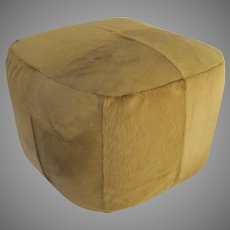 Vintage Calfskin Ottoman from Whittemore & Sherrill