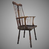 Early 18th Century Thames Valley Windsor Chair Queen Anne
