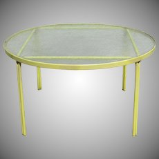 Vintage Brown Jordan Glass Top Table Garden Patio
