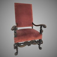 19th Century Large Italian Baroque Style Armchair
