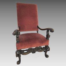 19th Century Large Italian Baroque Style Armchair