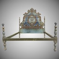 19th Century Painted Italian Rococco Headboard/Bed