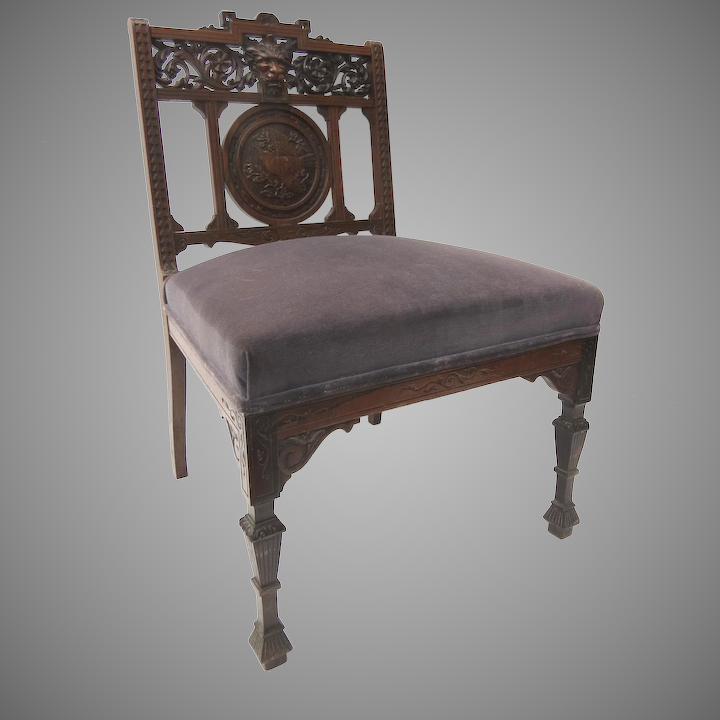 Surprising Slipper Chair Carved North Wind Eastlake Short Links Chair Design For Home Short Linksinfo