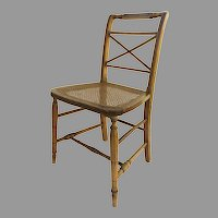 American Federal Side Chair Pin Striped Cane Seat
