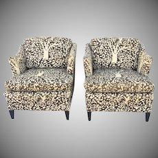 Pair of Vintage Mid Century Chair by Custom Build of Charlotte N.C.