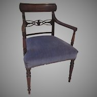 English Regency Armchair Prince of Wales Plums c 1820