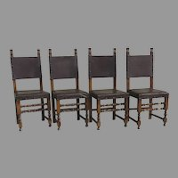 Set of Four (4) Italian 17th Century Style Side Chairs